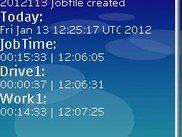 Here you can see overall time jobtime, a shortly drive1 and the actual work1 time