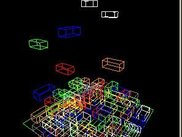 blocks in wireframe mode