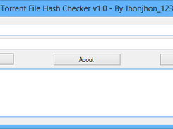 Torrent File Hash Checker download | SourceForge net