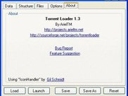 Torrent Loader About Tab