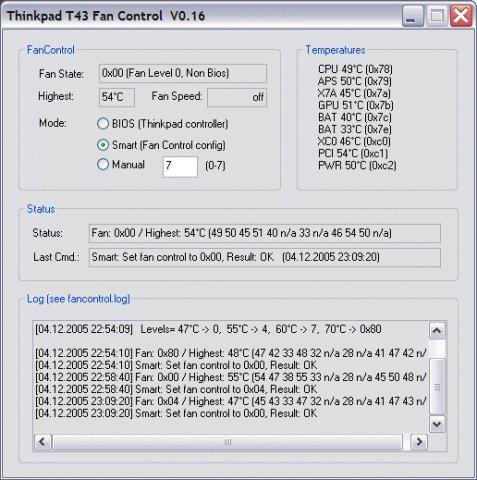 Thinkpad Fan Controller (tpfancontrol) download