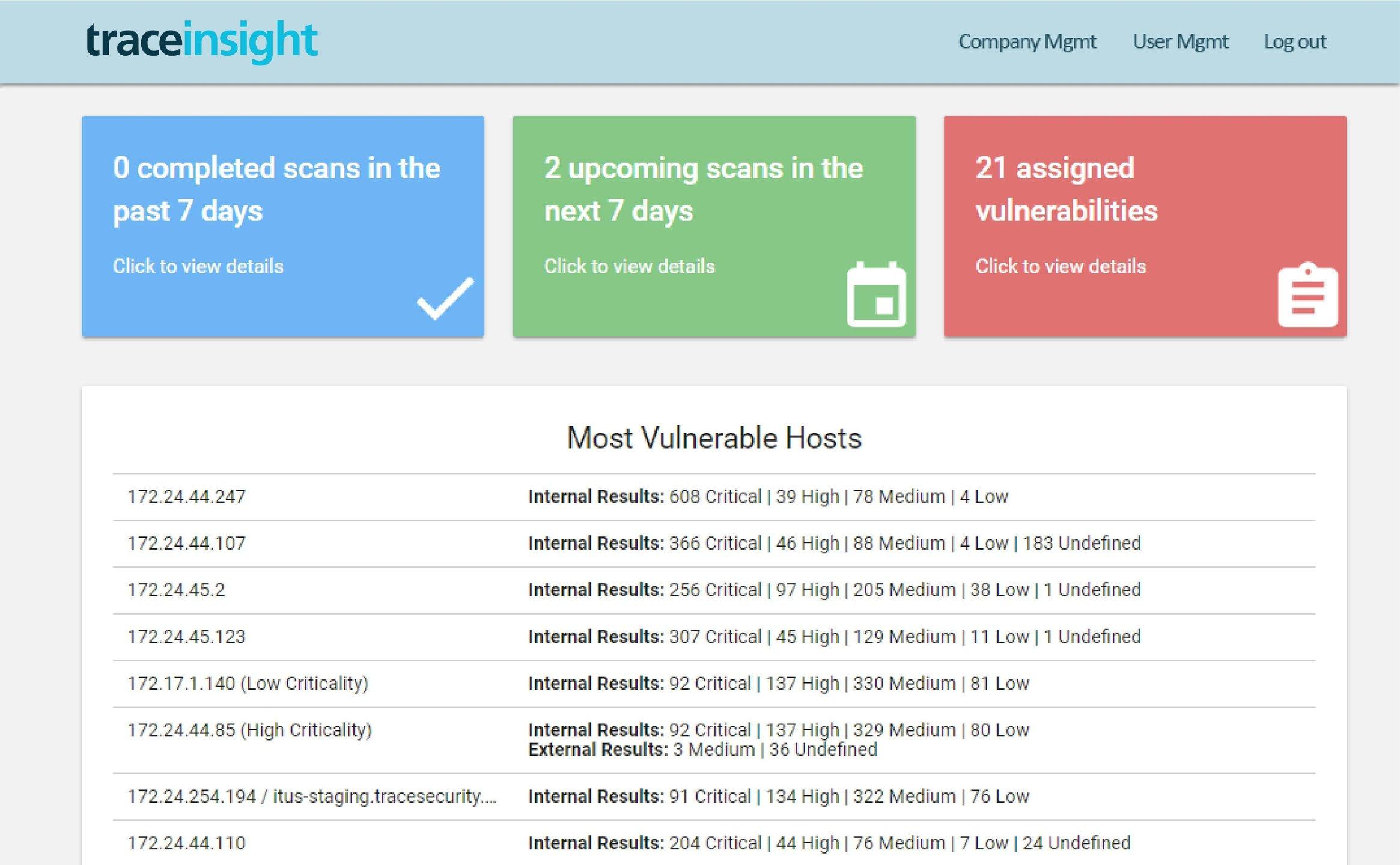 Nessus vs  TraceInsight vs  SafeGuard Cyber Comparison