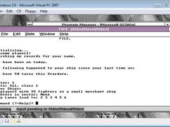 Tradewars C 0.7 running under Windows 3.0 (QuickC)