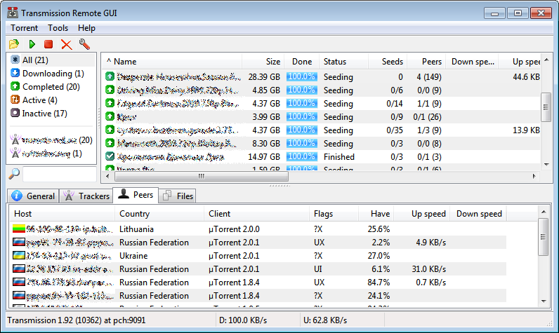 transmission bittorrent client windows 7