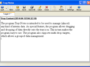 Tray Notes .NET main window