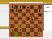 The game in action (yellow fields mark the last move)
