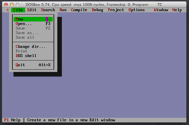 Turbo C++ for Mac OS X download | SourceForge net