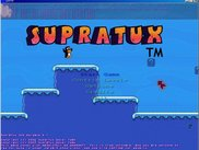 A main menu of the game named 'supratux 0.1-Pre Release'