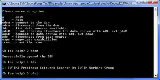 TWAIN sample Data Source and Application download