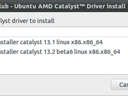 Select the driver to install.