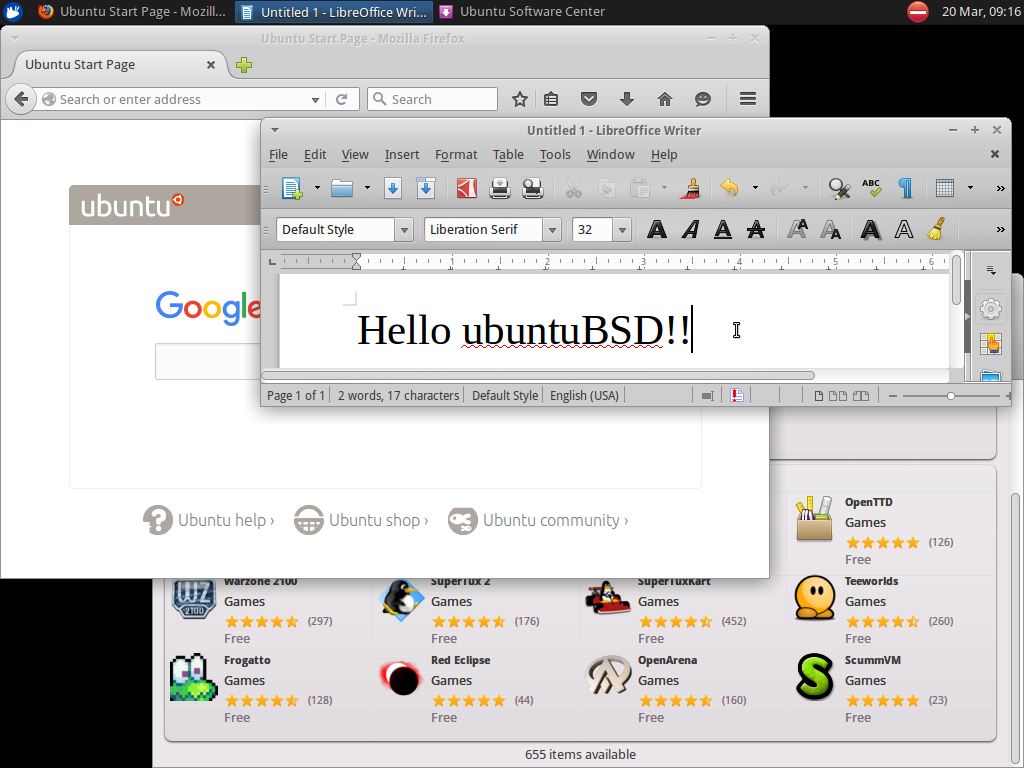 UbuntuBSD ScreenShot