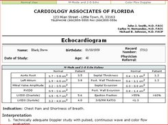Ultimate EMR Echocardiogram Report