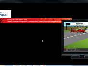 Complex animated user interface wth video player