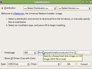 UNetbootin main dialog on Ubuntu Linux