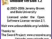 UniBible - About Screen