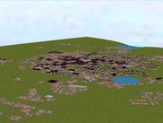A generated city in 3D