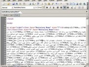 Nastaleeq Numa in action in MS Frontpage Code View.