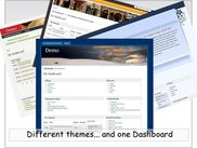 The userdashboard used with differents drupal themes ...