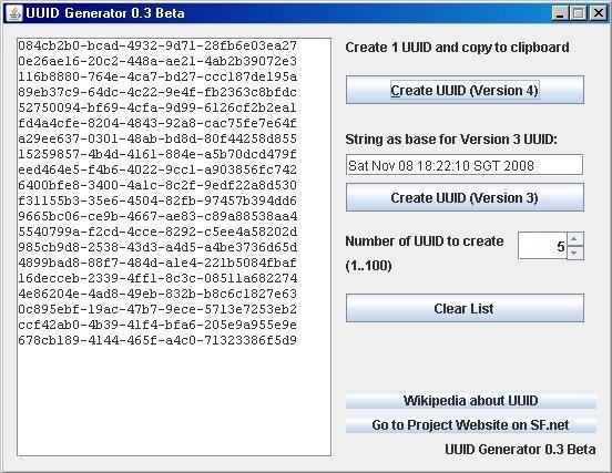 UUID Generator download | SourceForge net