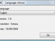 Language selection window