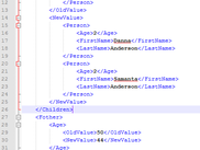 Sample of comparing xml