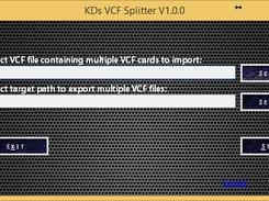 VCFSplitter download | SourceForge net