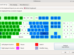 Keyboard set-up dialog. The function of each key can be finely tuned.