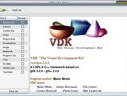 VDK test program running under Linux Fedora Core 2