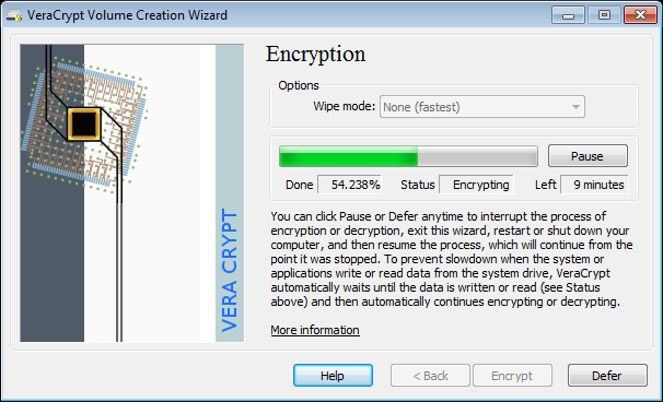 VeraCrypt screenshot