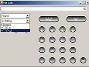 Screenshot showing the unit conversion tool