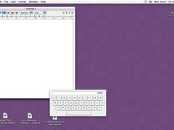 Virtual Hebrew Keyboard floating over a TextEdit window