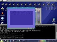 Amiga OS 3.x desktop with x64 running