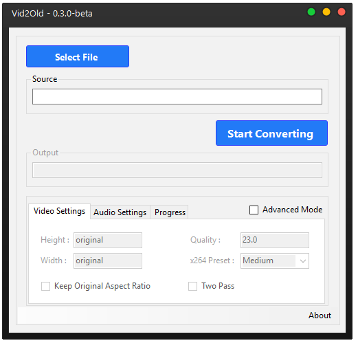 Vid2Old - H 265 to H 264 Converter download | SourceForge net