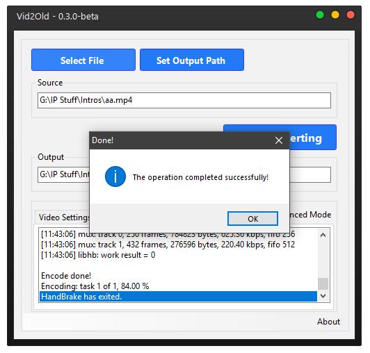 Vid2Old - H 265 to H 264 Converter download | SourceForge net
