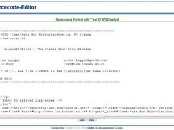 The Vienna Profiler source code editing window.