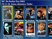 Select your movie by cover art.