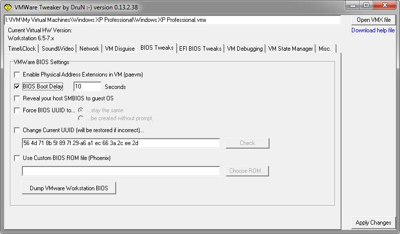 VMWare Tweaker screenshot