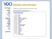 metadata field listing (administration)