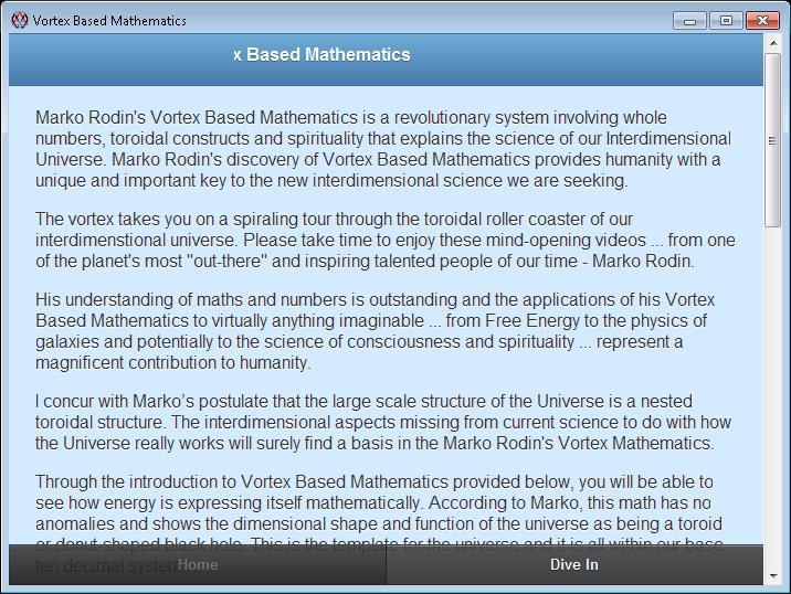 Vortex Based Mathematics download | SourceForge net