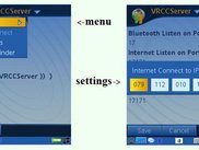 Symbian main and setiings views