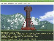 VRML model of a tower, displayed by view3dscene