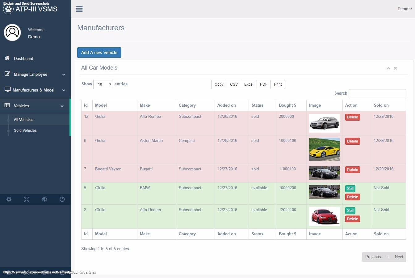 Car Sales Management System in Codeignit download