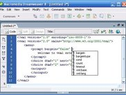 An extention to dreamwever for writing vxml applications
