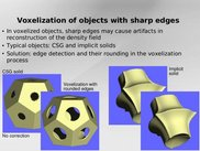 Voxelization of objects with edges