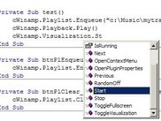 Easy to find the methods you need using IntelliSense