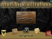 The game main menu, here you can see the login submenu