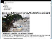 News site displayed by Wasabee