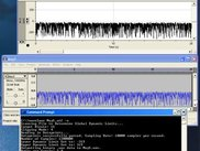 A real-world conversion between a wave and a sound file.