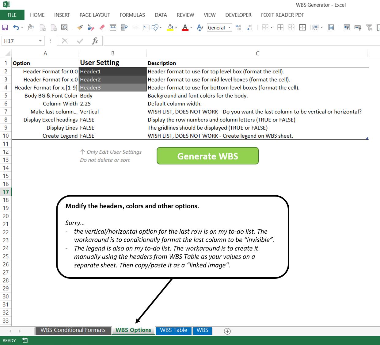 Excel Wbs Formula