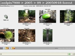 WebFileViewer 1.3 with pictures and icon of a directory